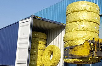 40'HQ Wheel Loader tires for Saudi Arabia